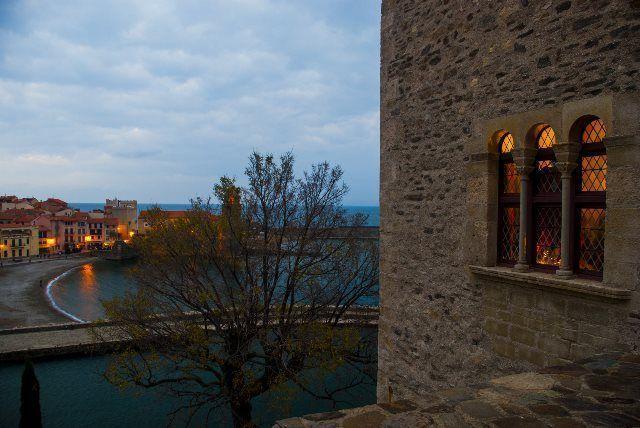Vistas de Cotlliure desde el castillo real