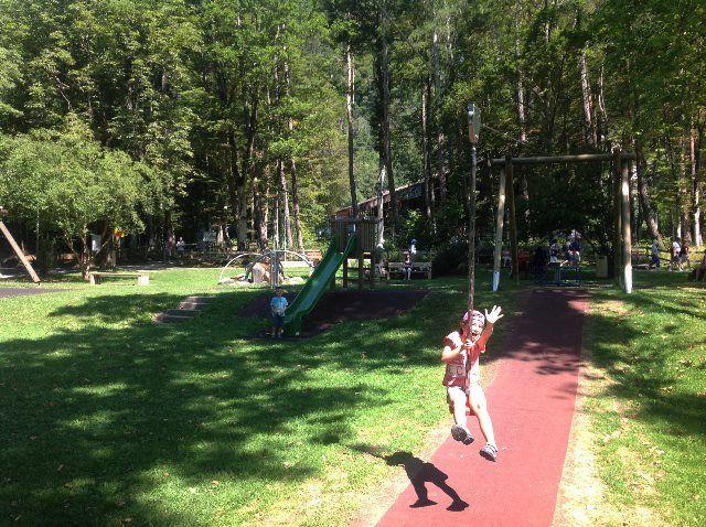El parque infantil del teleférico de Alpen Tower
