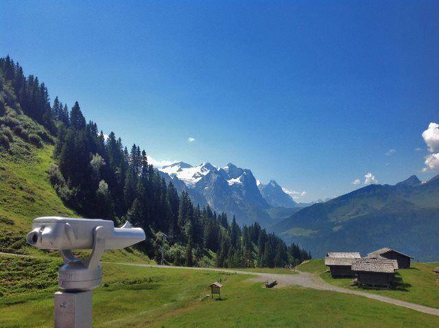 Panorámica alpina desde la estación de Mägisalp