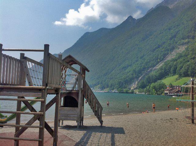 Playas del lago Lucerna
