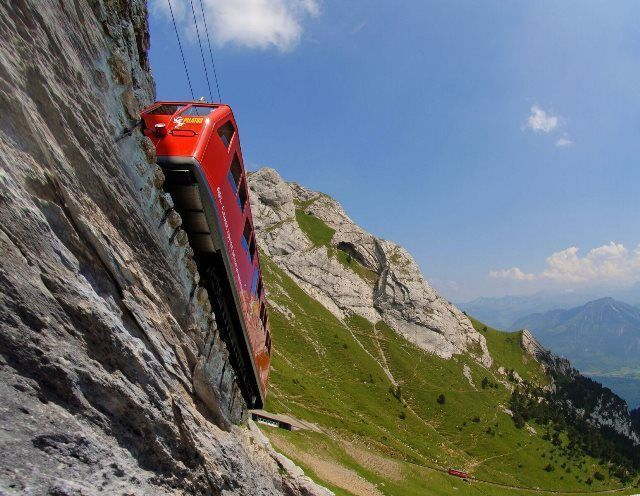 Tren cremallera Monte Pilatus