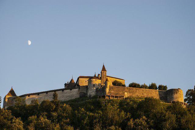 Anochecer en el castillo de Gruyères