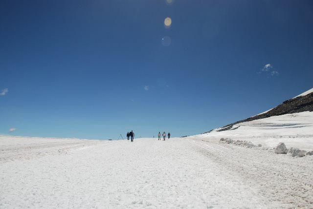 Desierto de nieve en Glacier 3000