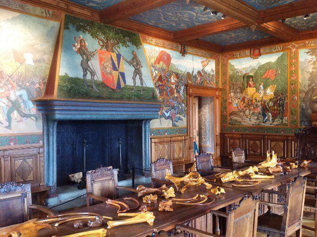 Salón del castillo de Gruyères