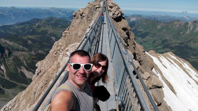 Selfie en el puente colgante
