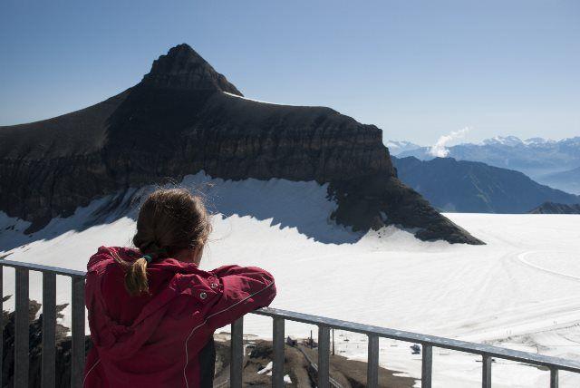 Terraza con vistas alpinas