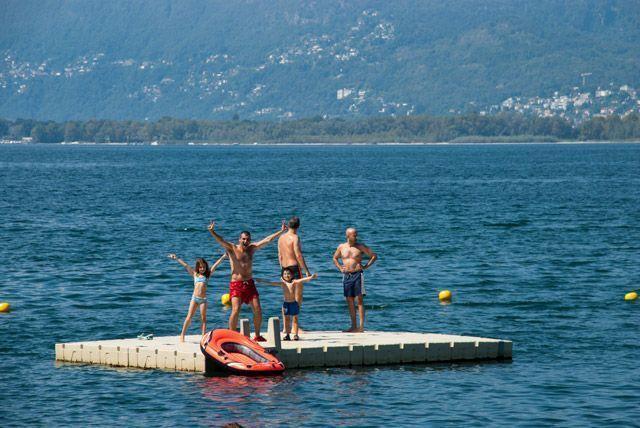 En medio del Lago Maggiore