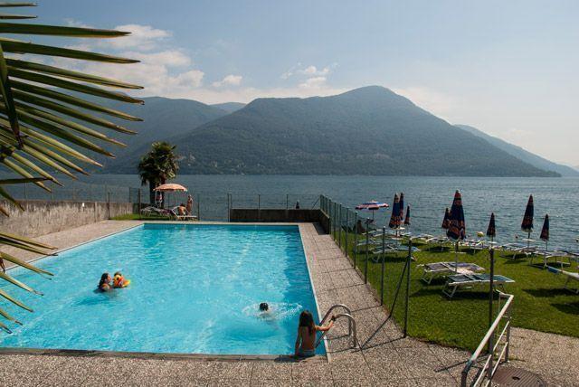 Genial piscina en Lido Brissago