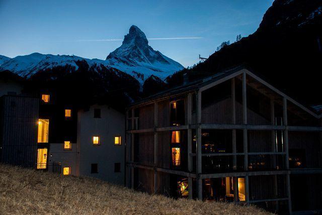 Anochece en Zermatt
