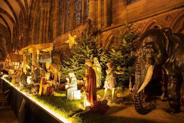 Belén de la catedral de Estrasburgo