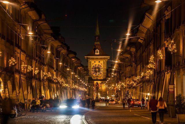 Berna de noche