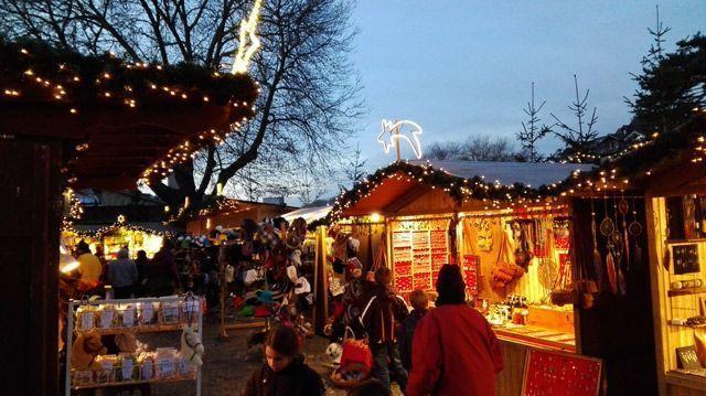 Casetas del Mercado de Navidad de Thun