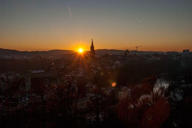 Puesta de sol en Berna