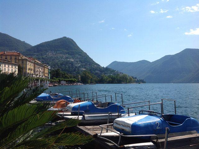 El lago Lugano