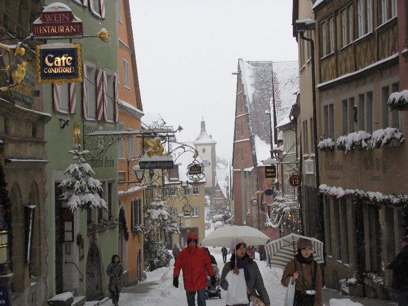 Rothenburg bajo la nieve