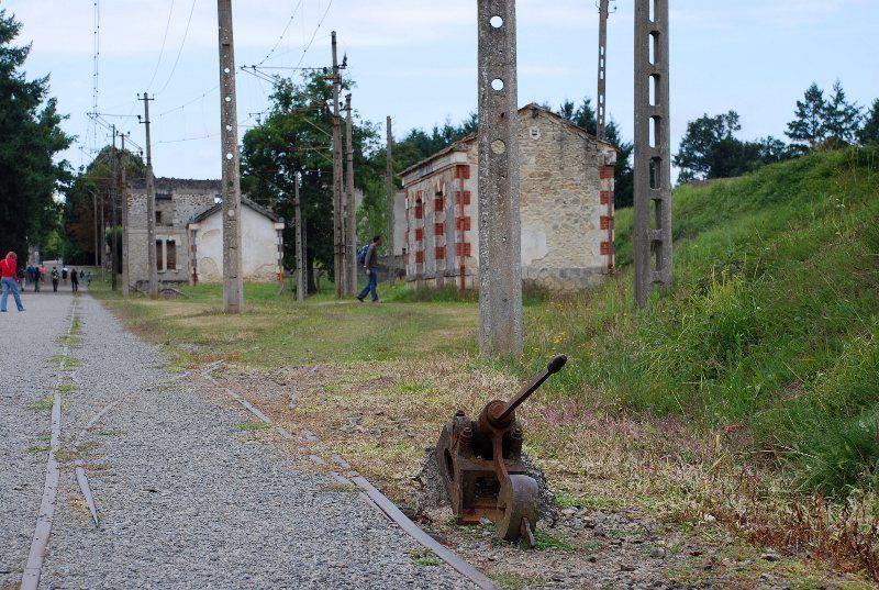 antigua estación de Oradour sur Glane