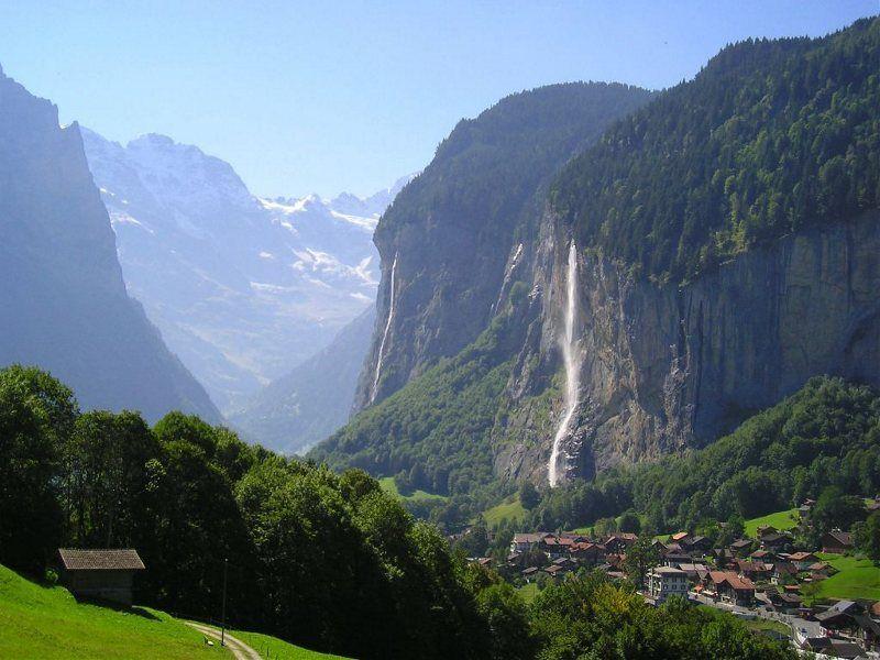 Cascadas en Lauterbrunnen