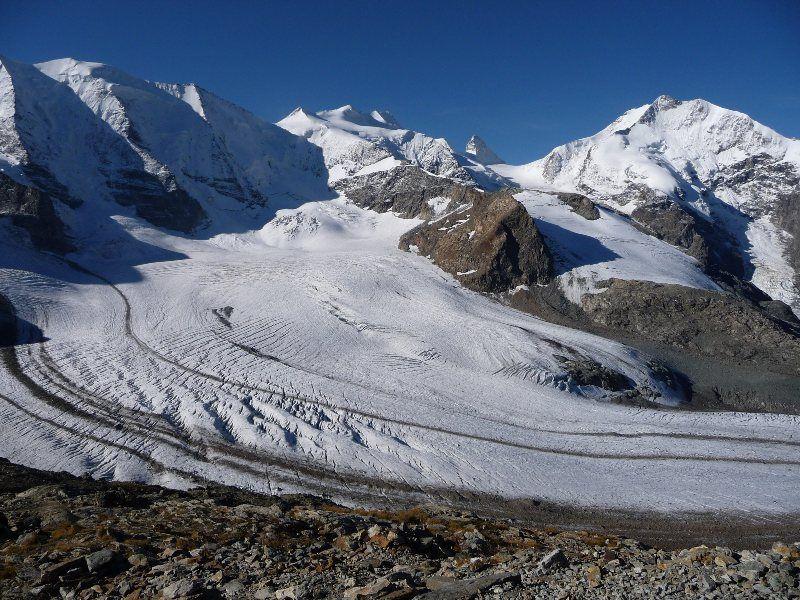 Glaciar Per y Piz Palü y Bellavista