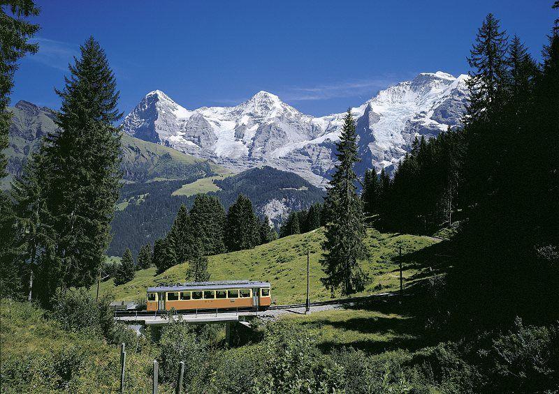 Tren camino de Mürren