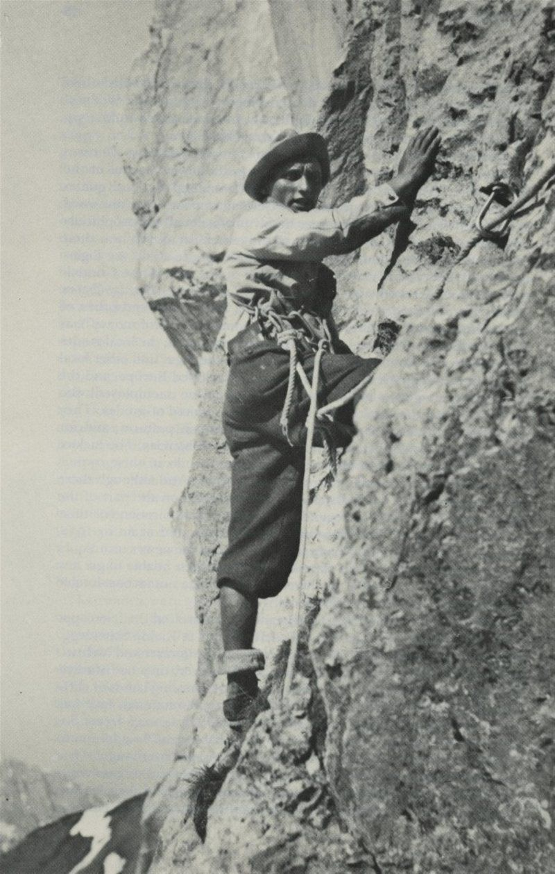 Toni Kurz en acción