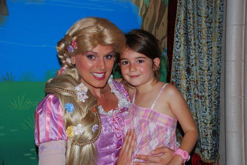Rapuntzel y Martina en el Pabellón de las Princesas
