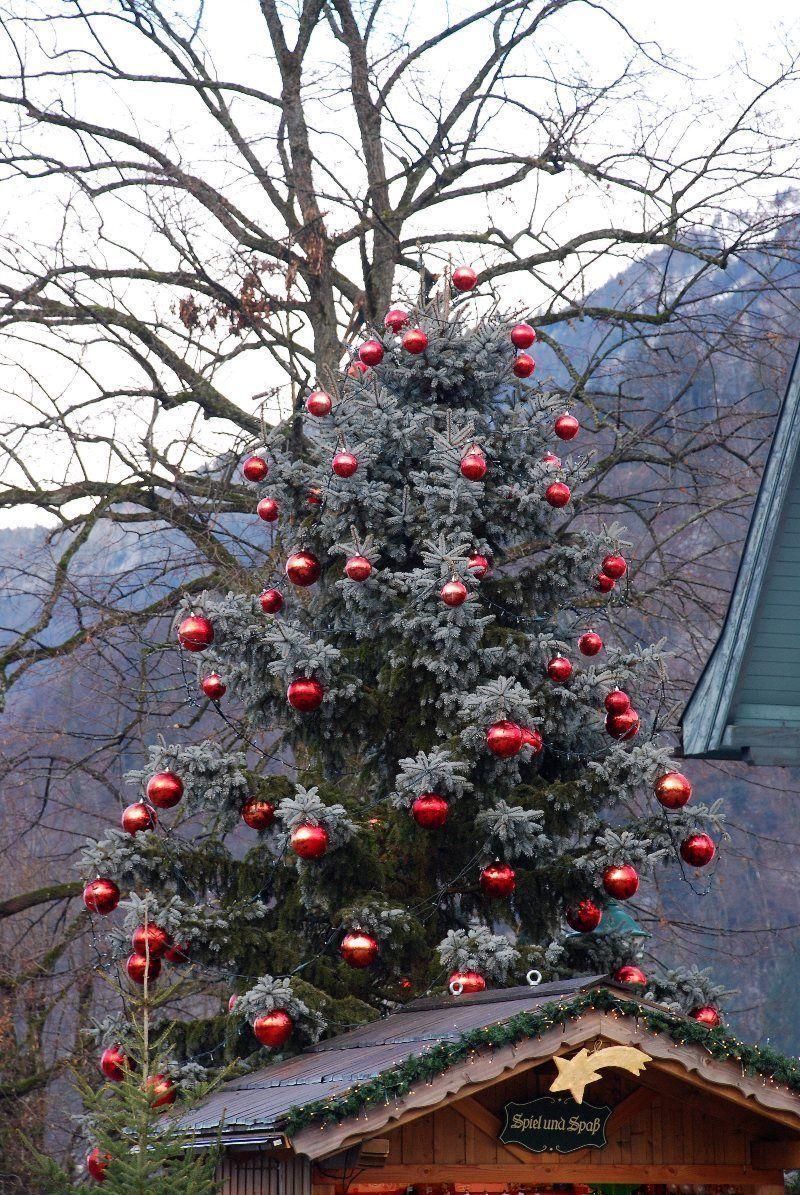Decoración de Navidad en Lago St. Wolfgang