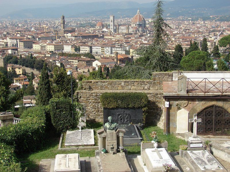 Vistas de Florencia desde el cementerio de San Miniato al Monte
