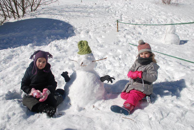 El muñeco de nieve no puede faltar...