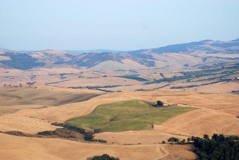 Paisajes ondulados en el Valle de Orcia