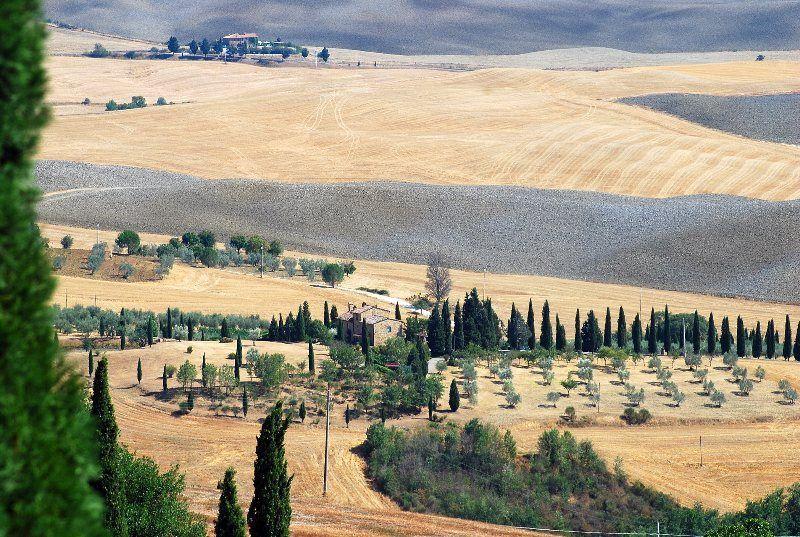 La Toscana rural desde Pienza
