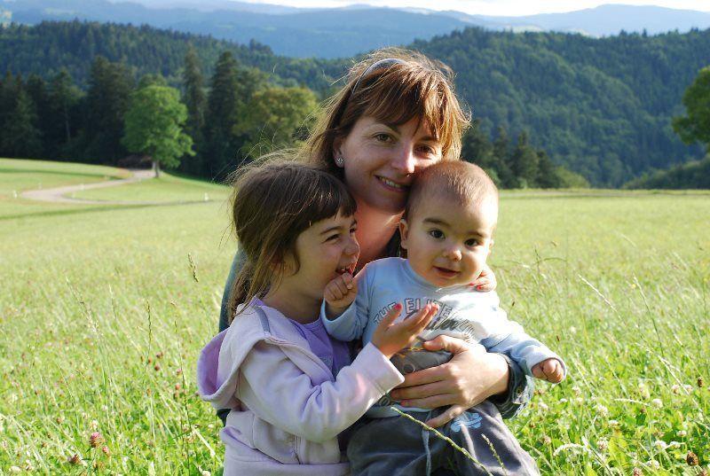 La familia cerca de Sankt Märgen