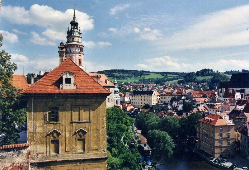 Vistas desde el castillo de Ceský Krumlov