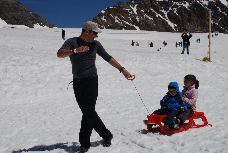 Snow fun en Jungfraujoch