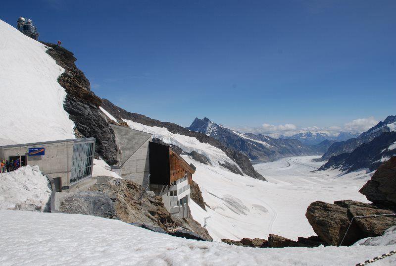 El glaciar Aletsch desde el Plateau en Jungfraujoch