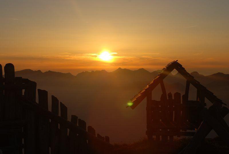 Puesta de sol desde el Niesen