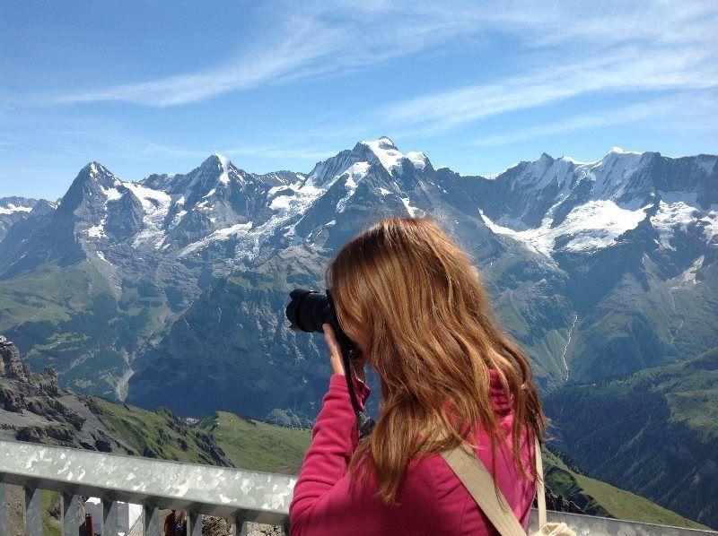 Panorama alpino desde el Schilthorn