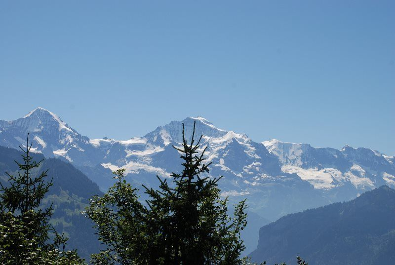 Espectacular panorámica del Jungfrau desde Harder Kulm