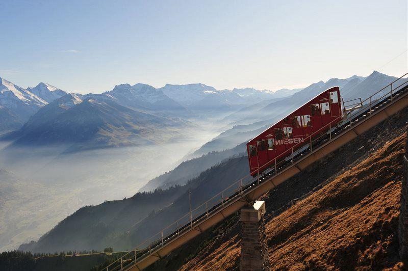 Es espectacular funicular del Niesen