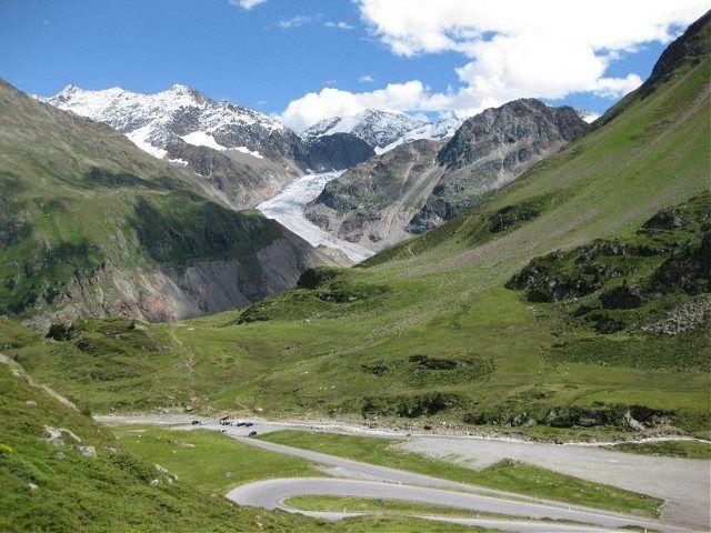 Glaciar Gepatschferner (desde Seeles Seen)