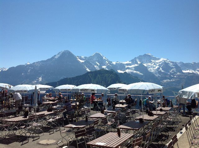 Panorámica alpina desde la terraza de Schynige Platte