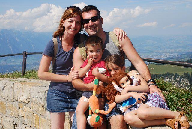 La familia en el Niederhorn