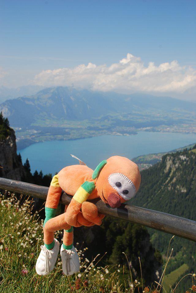 Mic y el lago de Thun