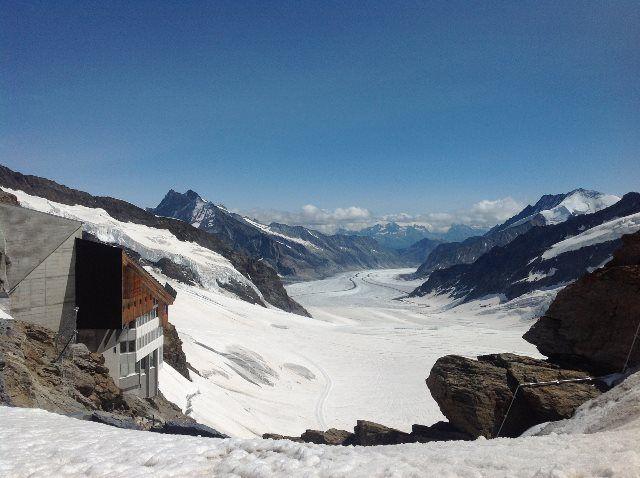 El glaciar Aletsch desde el Plateau