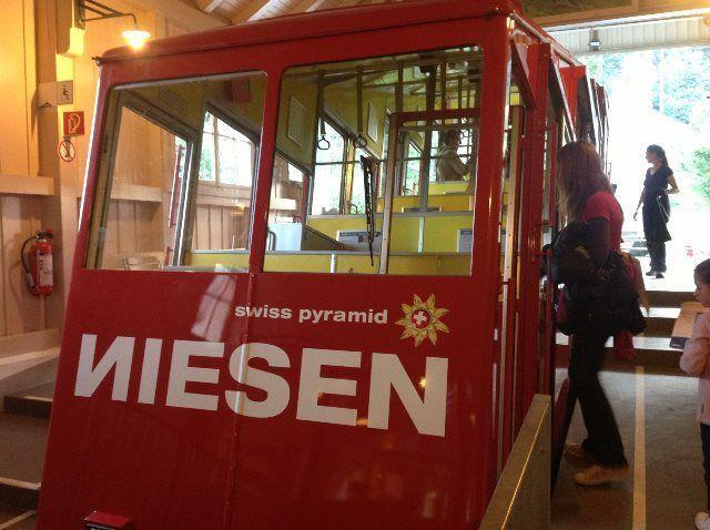 Entrando al Niesenbahn