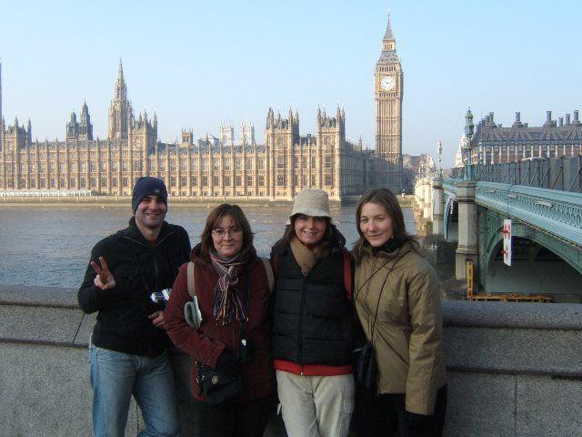 Londres con amigos