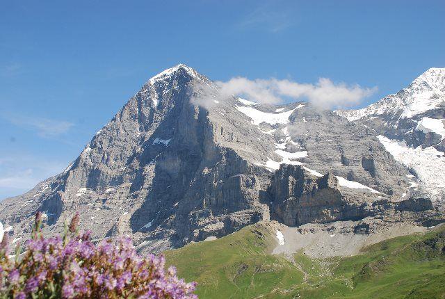 La norte del Eiger desde Kleine Scheidegg