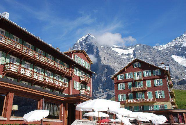 El Eiger desde el hotel Bellevue