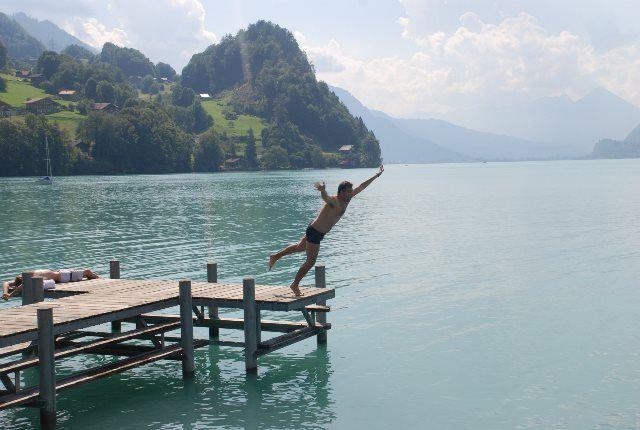 Disfrutando del verano en Iseltwald