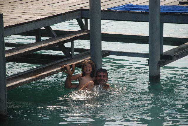 En las aguas del lago de Brienz