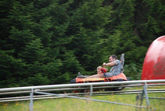 Martina y papá en el Rodelbahn
